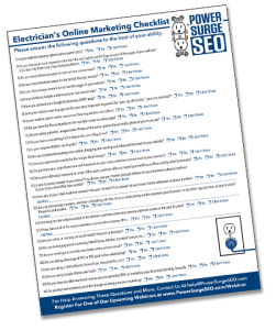 Electricians Online Marketing Checklist